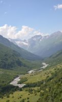 Ущелье Домбай Ульген дорога на Птышский и Чучхурский водопады